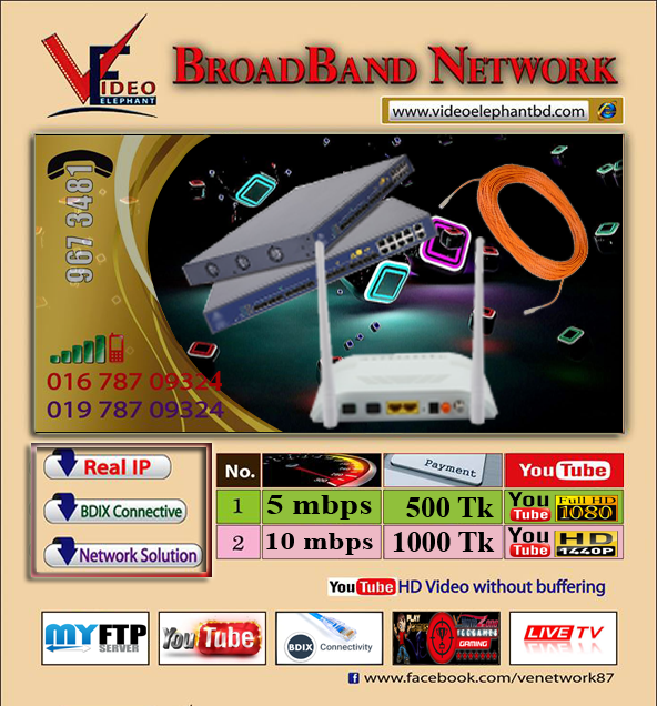 Internet Packages – VE Broadband Network